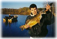 5 lbs 4 oz Small Mouth Bass, resort on ten mile lake near Hackensack MN